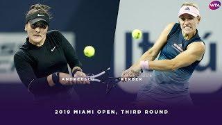 Bianca Andreescu vs. Angelique Kerber | 2019 Miami Open Third Round | WTA Highlights