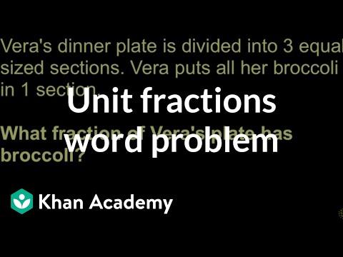 Identifying unit fractions word problem | Math | 3rd grade | Khan Academy
