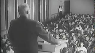 MP2002-409 Former President Truman Talks to Children at the Truman Library