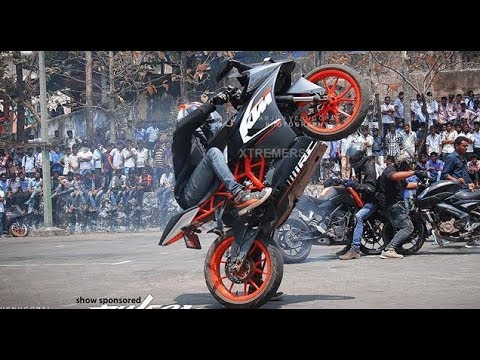KTM RC 200 | KTM Duke 200 |  KTM Stunt Show 2018 | New Awesome Stunt | Must Watch |HD