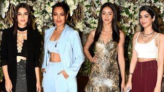 Download Sonakshi, Kiara, Kriti Sanon, Ananya Panday, Tara Sutaria Attend Manish Malhotra's Dinner Bash Video