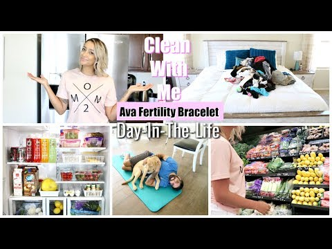 CLEANING & ORGANIZING FRIDGE | AVA FERTILITY BRACELET | BEACH WAVES HAIR | DAY IN THE  LIFE