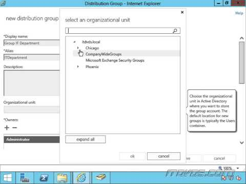 Creating a Distribution Group in Exchange 2013
