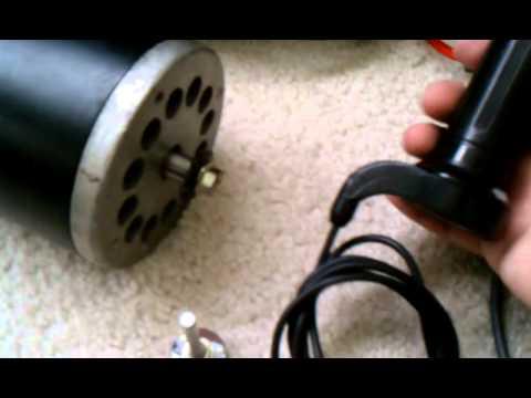 Home built 36/24v dc motor controller
