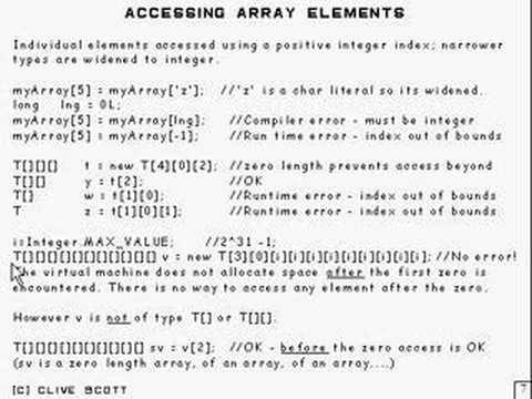 Java Tutorial 5.5 Arrays Part 5/15 - accessing array elements