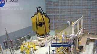 Time-lapse: Webbcam View of James Webb Space Telescopes Folding Its Wings