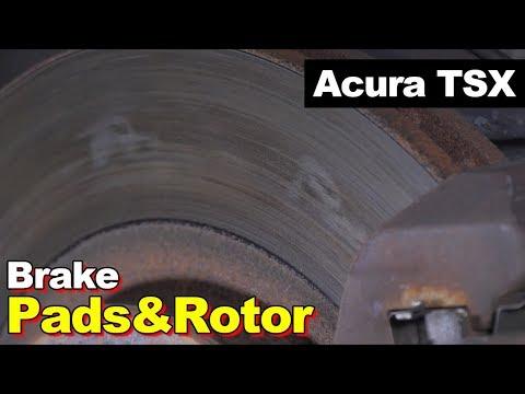 2004 Acura TSX Front Ceramic Brake Pads, Rotors & Hardware