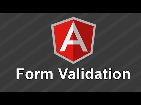AngularJS Tutorial - Form Validation with AngularJS