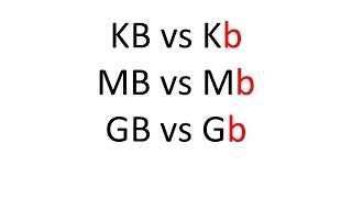 What Is The Difference Between Kb And Kb Or Mb And Mb Or Gb
