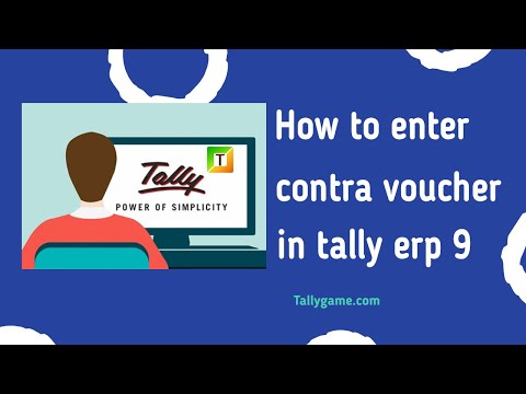 contra voucher entry in tally & tally erp