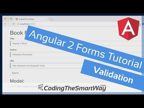 Angular 2 Forms Tutorial - Validation