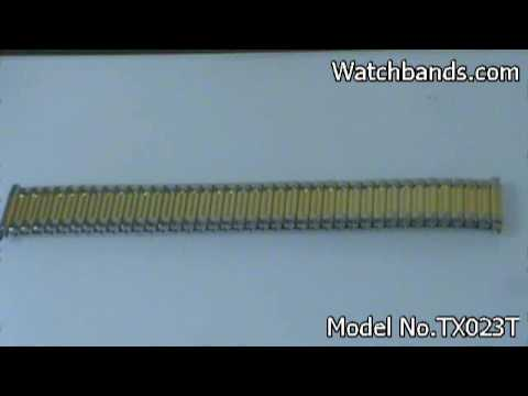 Timex Stainless Collection Two Tone Expansion Band 16-22mm