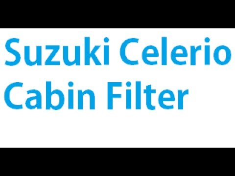 How To Replace The Cabin Air Filter in a Suzuki Celerio