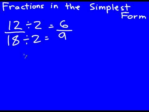 Reducing Fractions to the Simplest Form