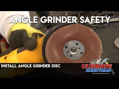 Install angle grinder disc | Angle grinder safety