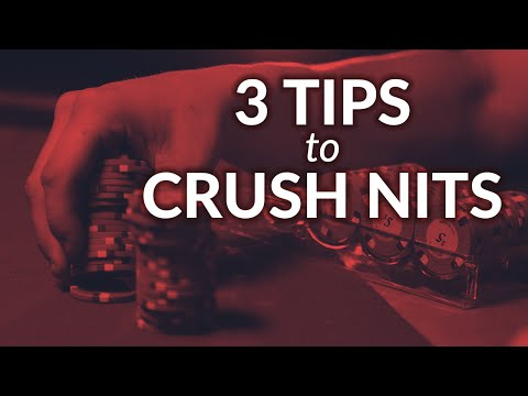 3 Poker Plays For Beating Nits   SplitSuit
