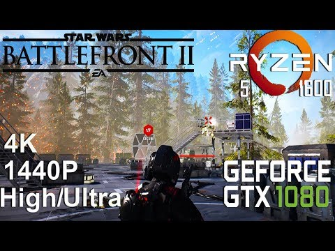 STAR WARS Battlefront II 4K/1440P Test On Gigabyte GTX 1080 + Ryzen 5 1600, High/Ultra Settings
