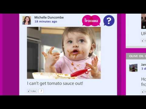 Vanish Tip Exchange - How to remove soy sauce and tomato sauce.