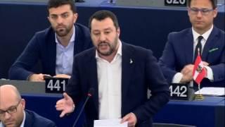 Salvini al Parlamento Europeo 15 marzo 2017