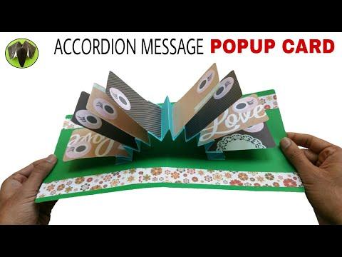 Accordion Message Popup Card - DIY Tutorial - 908