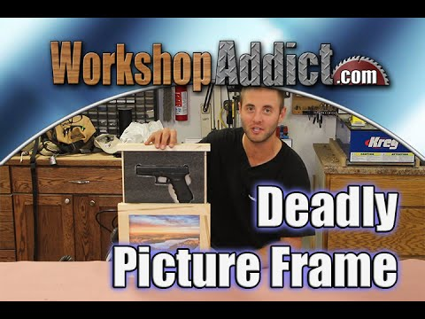 Build a Picture Frame to Hide a Gun with Plans