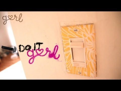 Do It, Gurl - How To Make An Awesome Light Switch Cover