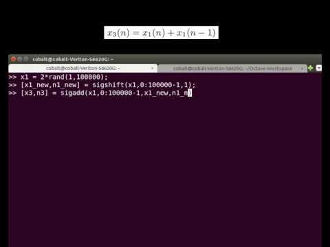 [Octave/Matlab] Sum of Uniformly Distributed Random Sequences (I)