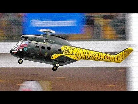 AS-332 SUPER PUMA AMAZING RC SCALE MODEL HELICOPTER INDOOR FLIGHT DEMONSTRATION