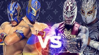 "Rey Mysterio and Sin Cara (Mistico) Vs. Kalisto and Sin Cara (Hunico) ""Masked Marvels"" HD"