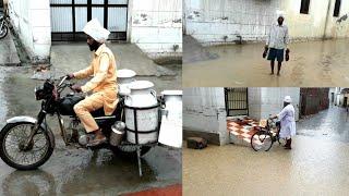 Rainfall in my Village (PUNJAB)💕Rainy Monsoon Season in PUNJAB [INDIA]💕Barish ka Mausam
