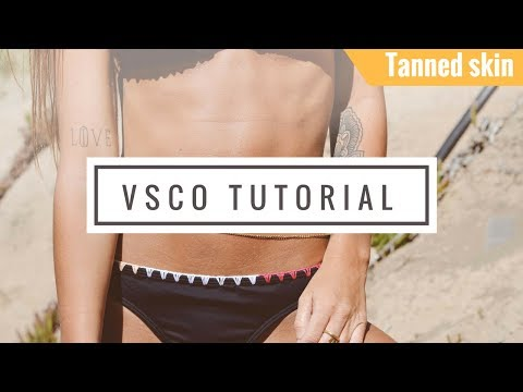VSCO tutorial tanned skin tone for your vacation Instagram photos