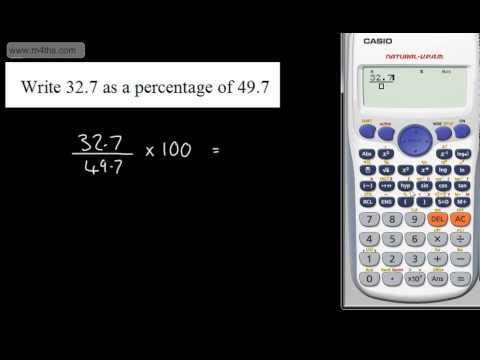 9-1 GCSE Maths - Writing One Quantity as a Percentage of Another Higher Foundation