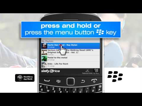 Adding and deleting playlists on a Blackberry handset