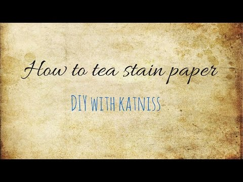How to age paper using teabags