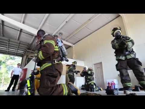 Firefighters recruits dress out in under two minutes