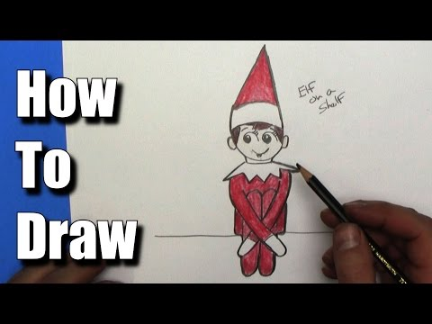 How to Draw Elf on the Shelf - EASY - Step By Step