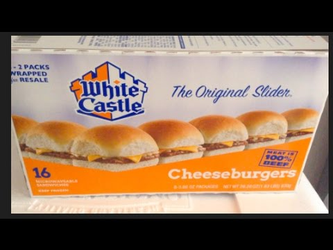 #282   Frozen  WHITE CASTLE  Cheeseburgers Review