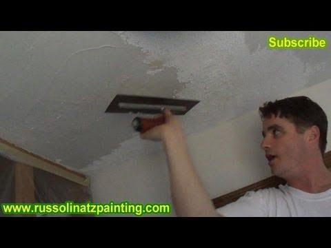 DIY Ceiling Repair - Skim Coat over a Painted Popcorn Ceiling (Part 2)