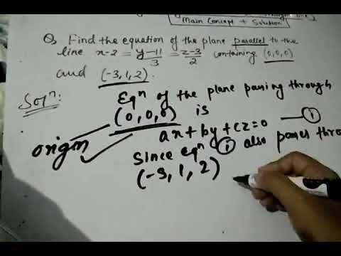 Finding equation of the plane parallel to the line containing two given points | Straight Line