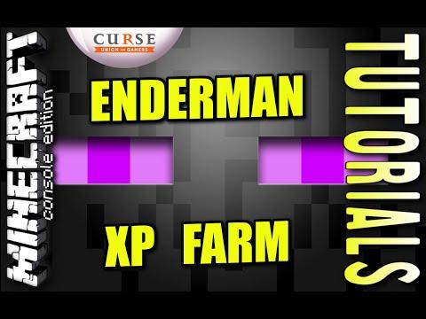 MINECRAFT PS4 - ENDERMAN XP FARM - TUTORIAL ( PE / PS3 / XBOX / WII U )