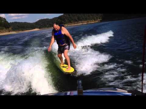 62 Year Old Wake Surfing?! BEST Beginner Wakesurf Board!
