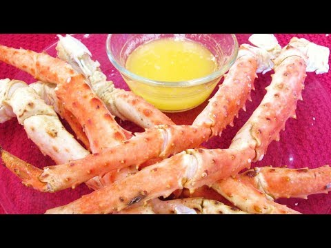 King Crab Legs - Cooking and Pealing Large Santolla Red Crab Legs - PoorMansGourmet