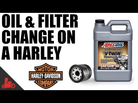 How To Change Oil & Filter on Harley Sportster!