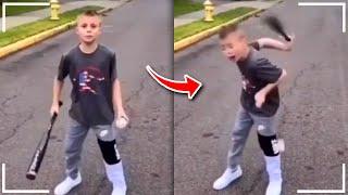 r/kidsarestupid | Baseball Trickshots ft. Dude Perfect!