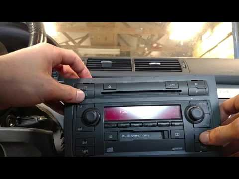 How To Enter Radio Code for an Audi A4 B7 05.5 - 08 Symphony II