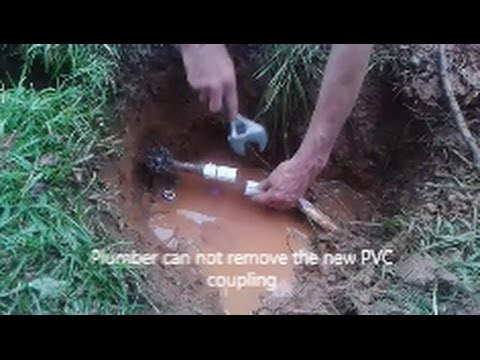 How to Fix A Broken Underground PVC Pipe -  Main water Line  Leak- Step By Step  -  D I Y