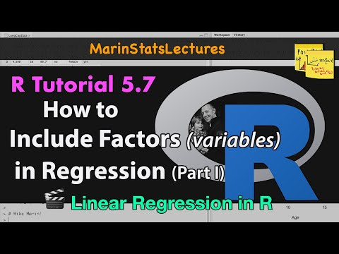 Categorical Variables or Factors in Linear Regression in R (R Tutorial 5.7)