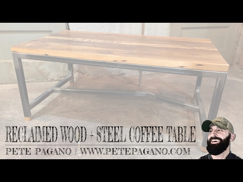 Reclaimed Wood + Steel Coffee Table
