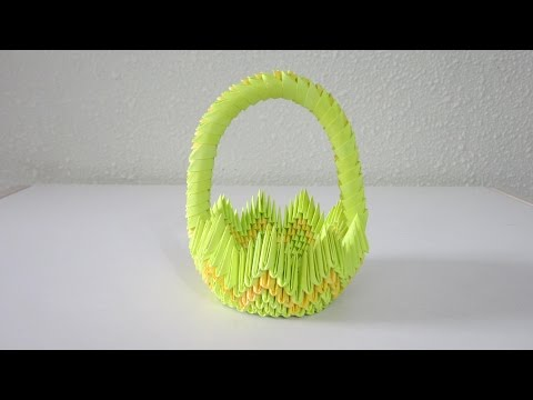 TUTORIAL - 3D Origami Basket