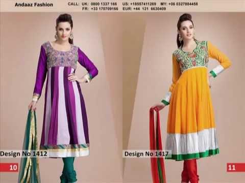 Latest Churidar Punjabi Suits in Malaysia #Andaazfashion